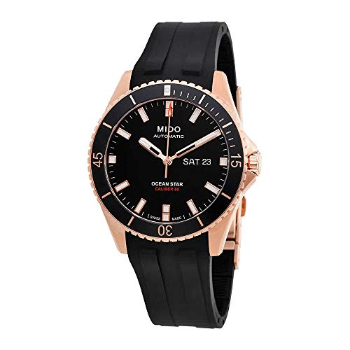 Mido Ocean Star Captain V M026.430.37.051.00 Black / Black Rubber Analog Automatic Men's Watch