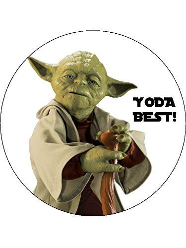 7 5 Star Wars Yoda Best Essbarer Zuckerguss Birthday Kuchen Topper