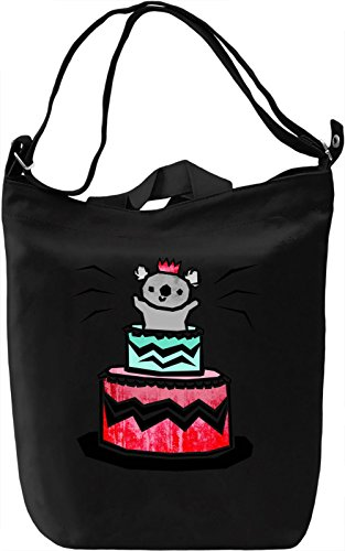 Koala Cake Borsa Giornaliera Canvas Canvas Day Bag| 100% Premium Cotton Canvas| DTG Printing|