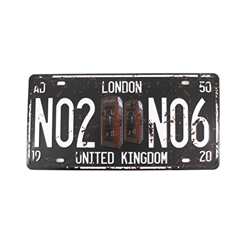 Oil Gas Map (6x12 Inches Vintage Feel Rustic Home,bathroom and Bar Wall Decor Car Vehicle License Plate Souvenir Metal Tin Sign Plaque (LONDON NO2 NO6))