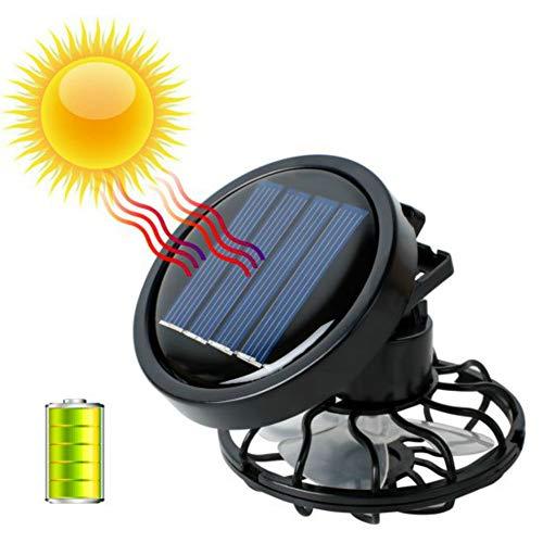 Pevor Portable Mini Solar Powered Clip Fan Cooling Fan Hat Cap Fan Energy Saving Black Energy Fan Cooler Solar Panels and Solar Power ()