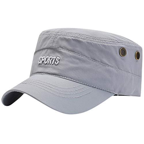 Giulot Radar Pocket Cap Men's Fiddler Cap Unisex Wool & Faux Leather Greek Fisherman Sailor Fiddler Driver Hat Flat Cap Gray ()