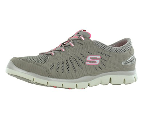 Skechers Sport Women's Fabulous Fashion Sneaker,Taupe,5 M US (Skechers Gratis In Motion)