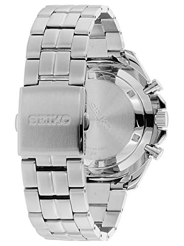 Seiko Mens Quartz Watch, Chronograph Display and Stainless Steel Strap SSB345P1