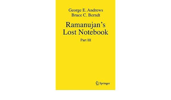 Ramanujans Lost Notebook: Pt. 1