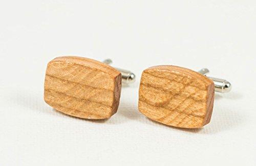 American Cherry Exotic Hardwood Cufflinks