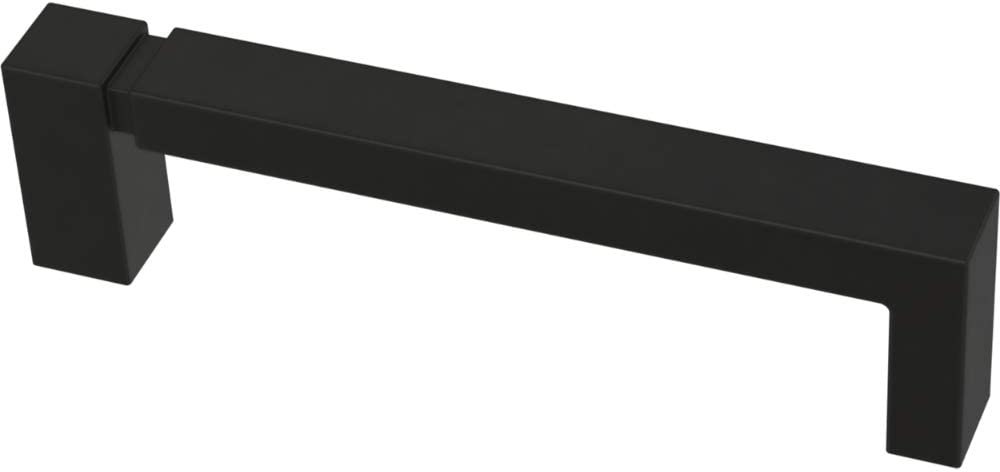 Franklin Brass P40823K-FB-C Asymmetric Notched Kitchen or Furniture Cabinet Hardware Drawer Handle Pull, 3-3/4-Inch (96mm), Flat Black, 10-Pack