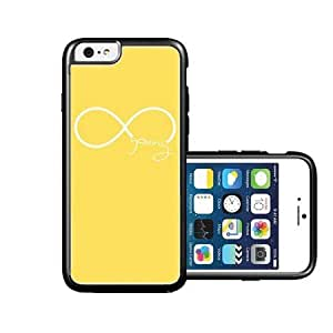 RCGrafix Brand forever-young Lemon Yellow plain white iPhone 6 Case - Fits NEW Apple iPhone 6
