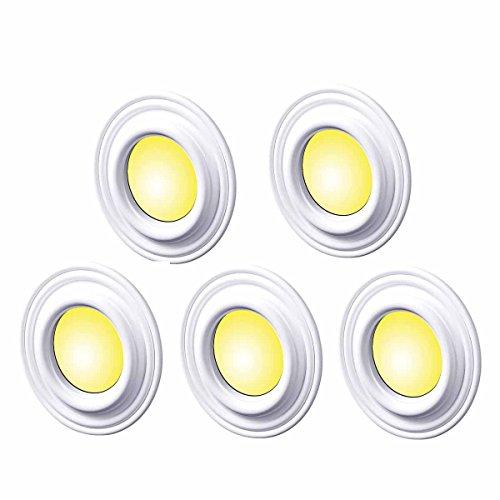5 Spot Light Trim Medallions White Urethane 4