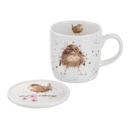 Royal Worcester Wrendale Designs Fly the Nest Mug & Coaster