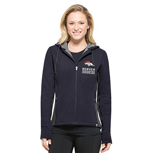 '47 NFL Denver Broncos Women's Compete Full-Zip Hood, Marine, Large