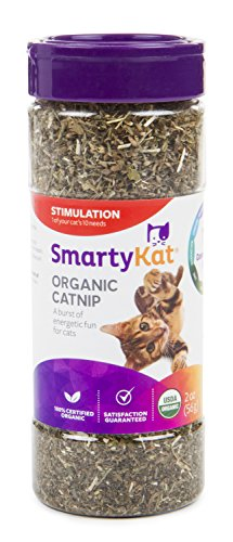 SmartyKat Organic Catnip, 2 oz Canister Review