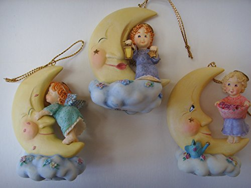 Bradford Edition Angel Fairy Porcelain Ornament Set of 3 Heaven's Little Helpers