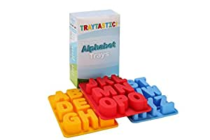 """Silicone Alphabet Trays Mold by Traytastic! - Large 1.5"""" Tall Letters"""