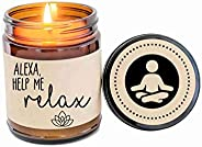 Alexa Gift Scented Candle Relaxation Candle Gift Funny Candle Gift for Her
