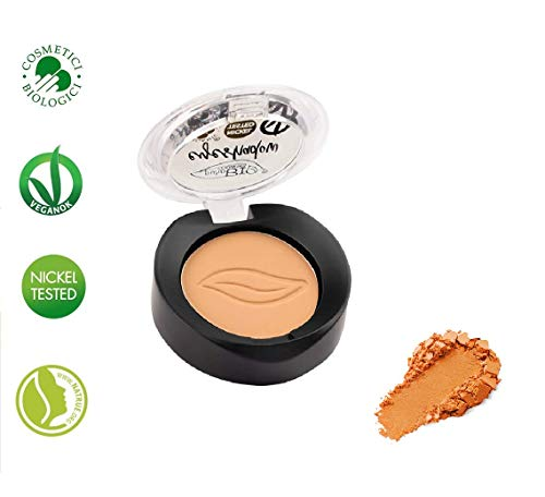 PuroBIO Certified Organic Highly-Pigmented and Long-Lasting Matte Eyeshadow no 12 Peach with Vitamins and Plant Oils. VEGAN.ORGANIC.MADE IN ITALY.