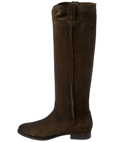 Frye Mujer Cara Tall Suede Slouch Bota Fatigue Oiled Suede