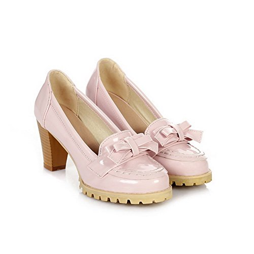 Balamasa Womens Pull On High Heels Solid Pumps Shoes Pink faNuPrrV