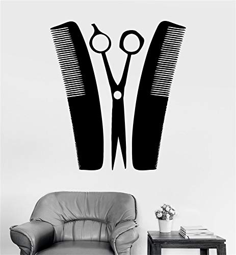 futuka Wall Decal Sticker Art Mural Home Decor Barber Hairdresser Tools Hair Salon (Dresser Portrait Mirror)