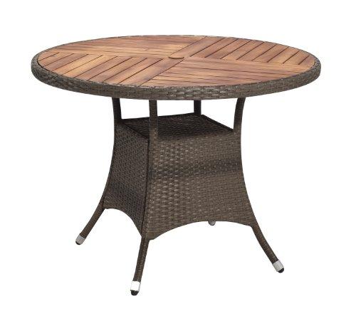 Amazon De Gartenfreude Tisch Polyrattan Aluminiumgestell Mit