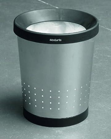 Brabantia Papelera c/ónica 5 litros Metal Gris Brillante