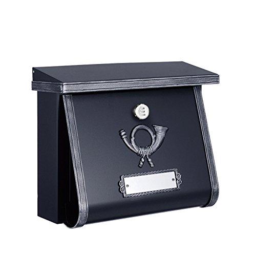 郵便ポスト 郵便受け ハイビポスト クラシカルポストC ダイヤル錠 ブラックシルバー 壁掛け 壁付けポスト オンリーワンクラブ HEIBI 送料無料 B07DC4XRDN