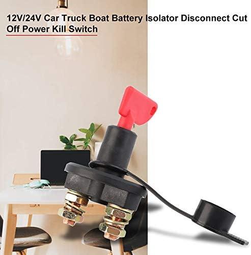 24V Universal Auto Auto LKW Boot Batterie Trennschalter Trennschalter Trennschalter Wasserdichter Schalter 12V Schwarz /& Rot