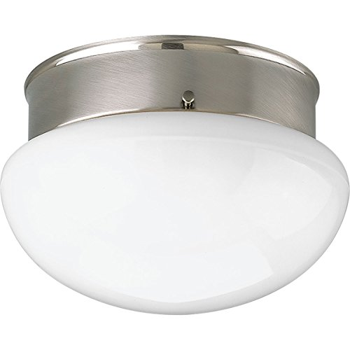 Progress Lighting P3408-09WB Fitter 1 Light CFL Flush Mount with Bulb