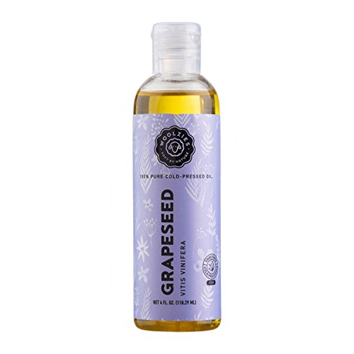 Woolzies 100% Pure Unrefined Cold pressed Grape seed oil, Natural moisturizer for skin and hair