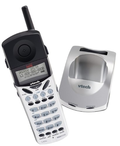 VTech 40-2420 Accessory Cordless Handset, White/Black | Requires a VTech VT40-2421 Expandable Phone System to Operate
