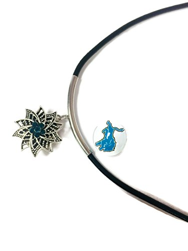 NFL Fashion Snap Jewelry Detroit Lions Logo Necklace Set With 2 Charms For Football (Detroit Lions Logo Pendant)