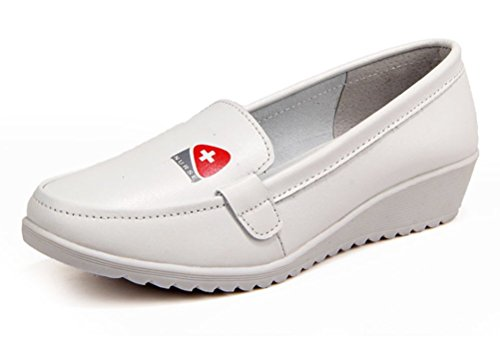 Cross Shoes Nursing Red (Orient Tree Women's Lightweight White Nursing Shoes Leather Medical Shoes White US 8)