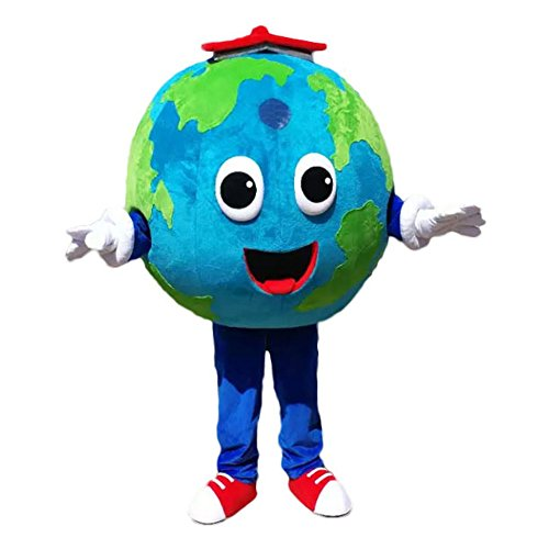 CostumeShine The Earth Mascot Costume Adult The Earth Costume Unisex Fancy Party Dress Suit (Size Medium: 5'7