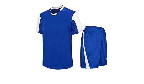 XFentech Hombres Niño Verano Ropa de Fútbol Ropa Deportiva Manga Corta  T-shirt y Pantalones Cortos Set Deportes Equipo de Entrenamiento de  Competencia Traje ... 7c9b89f120e12