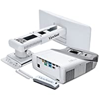 ViewSonic PS750HD 3000 Lumens 1080p HDMI Interactive Ultra Short Throw Projector with Wall Mount