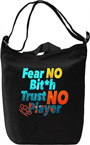 No Player Borsa Giornaliera Canvas Canvas Day Bag| 100% Premium Cotton Canvas| DTG Printing|