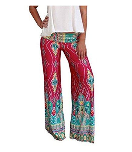 sfpong - Pantalon de sport - Évasée - Femme Multicolore Bigarré
