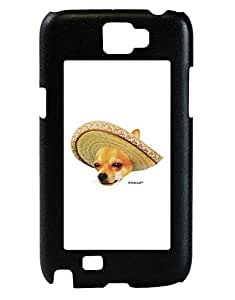 TooLoud Chihuahua Dog with Sombrero - Patchwork Design Galaxy Note 2 Case