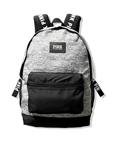 Victorias Secret Pink Campus Backpack 2019 Edition (Heather Charcoal) (Best Backpacks For 2019)