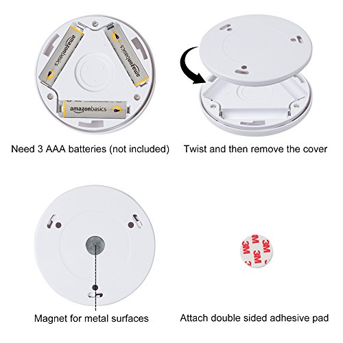 Century Motion Sensor Battery Powered LED Light for Entrance, Hallway, Garage and Bathroom (3 Pack), White (Off-White) by Century (Image #5)