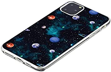 6City8Ni Bling Transparent Slim Flexible Compatible with Samsung A51,Crystal Soft Thin Anti-Scratches Shock Absorption Clear Glitter Silicone Colorful Flowers Cartoon TPU Gel Bumper Protective