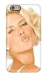 New Tpu Hard Case Premium Iphone 6 Skin Case Cover(heidi Klum Kiss )