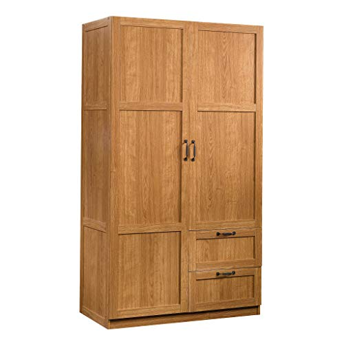 "Sauder Miscellaneous Storage Cabinet, L: 40.00"" x W: 19.45"" x H: 71.10"", Highland Oak Finish"
