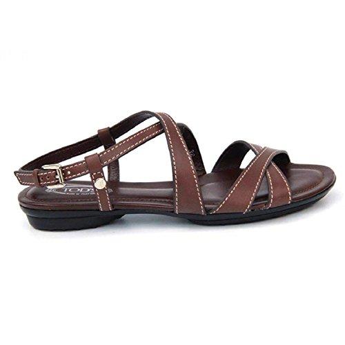 Sandalo Flat Da Donna Tods Xxw0ku07520bhws602 Marrone