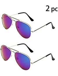 Classic Kids Aviator Sunglasses Bulk Reflective Metal...