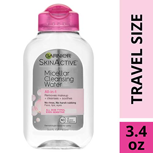 Garnier SkinActive Micellar Cleansing Water, For All Skin Types, 3.4 Ounce (Best Eye Cream In Your 50s)