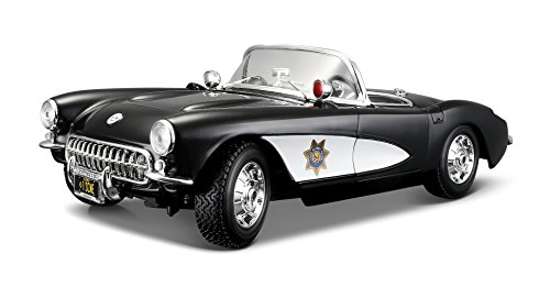 Maisto 1957 Chevy Corvette Police Diecast Vehicle (1:18 (Diecast 1957 Chevy Corvette)