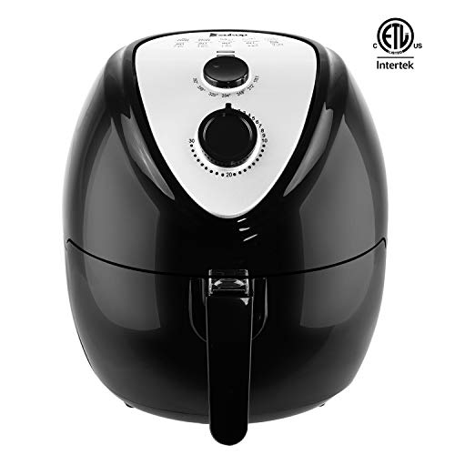 Goujxcy Air Fryer, KAF1800P-D1 120V 1800W 5.3 L Air Fryer Mechanical Model Black for Healthy Oil Free Cooking, with Automatic Timer & Temperature Control