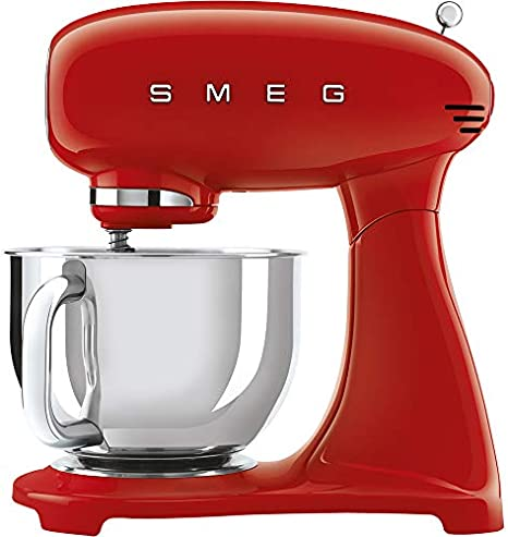 Smeg Robot De Cocina Smf03rdeu 800w 10 Velocidades, 800 W, Acero Inoxidable, Aluminio, Rojo: Amazon.es: Hogar
