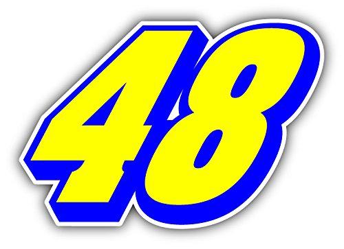 48 Jimmie Johnson Nascar Racing Car Bumper Sticker Decal 5'' x ()